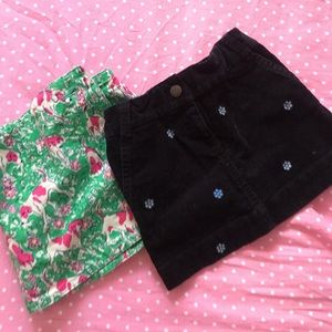 Lilly Pulitzer Skirt &Crew cuts Bundle Skirt Size2